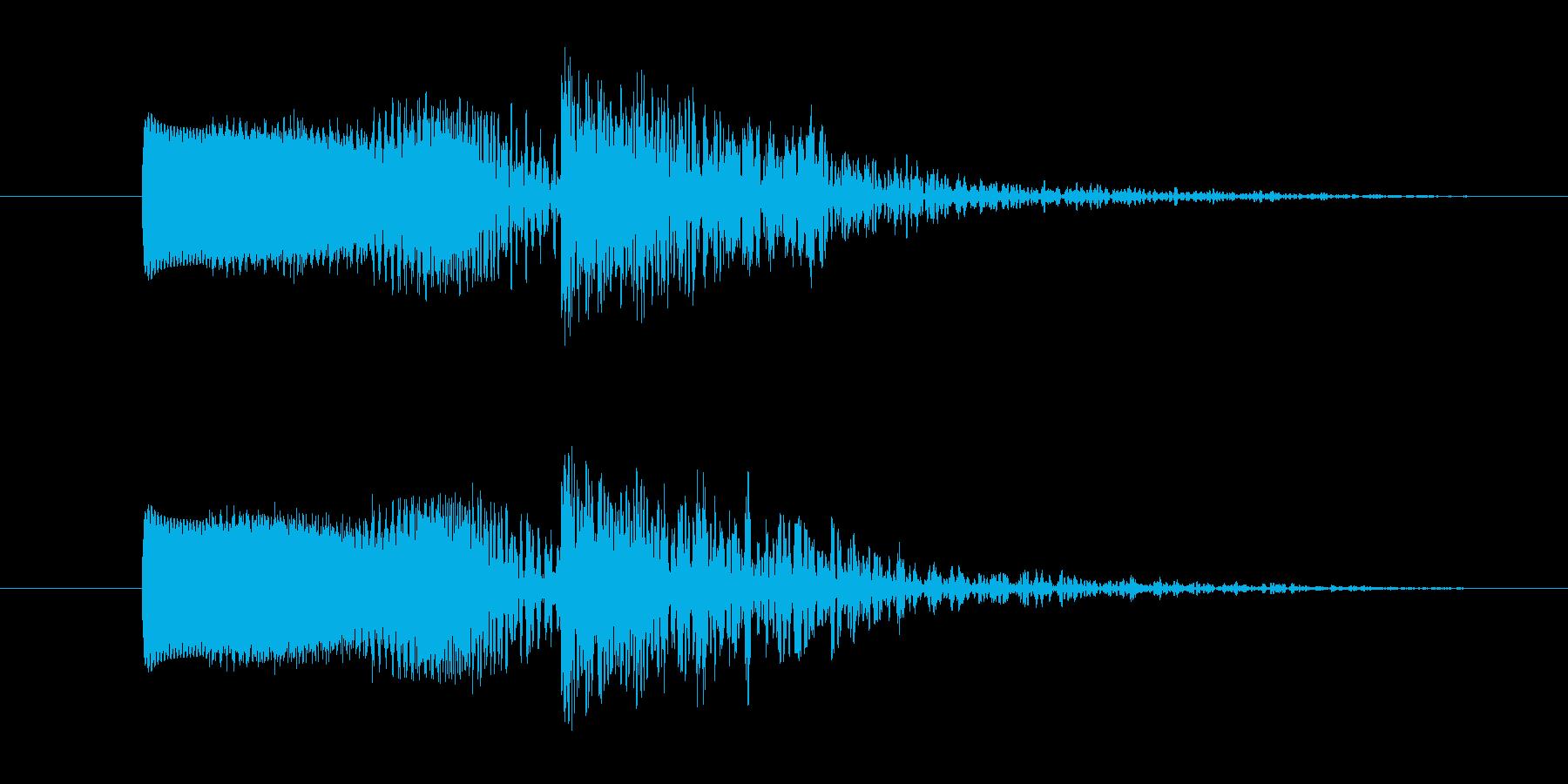 ビーム音と爆発音の効果音,SE4の再生済みの波形