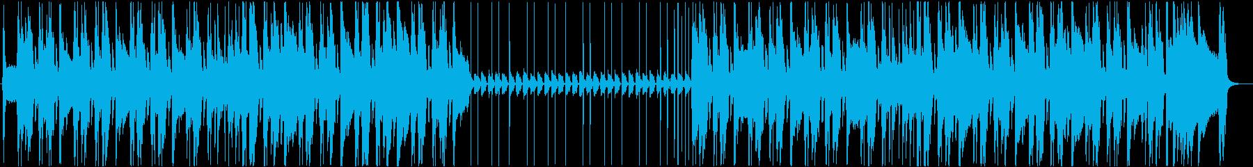 スタイリッシュなアコースティックギターの再生済みの波形