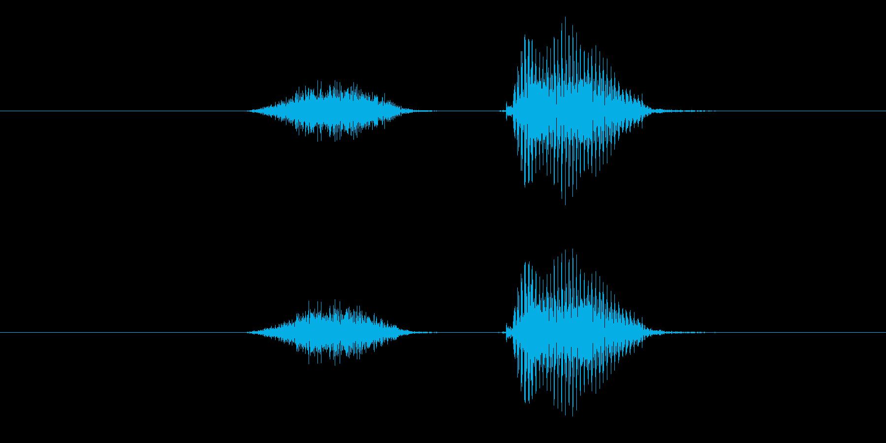 下の再生済みの波形