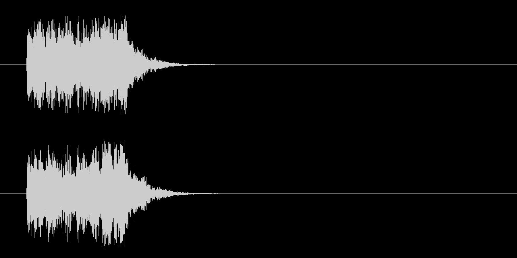 コーナーアタック風フュージョンのジングルの未再生の波形