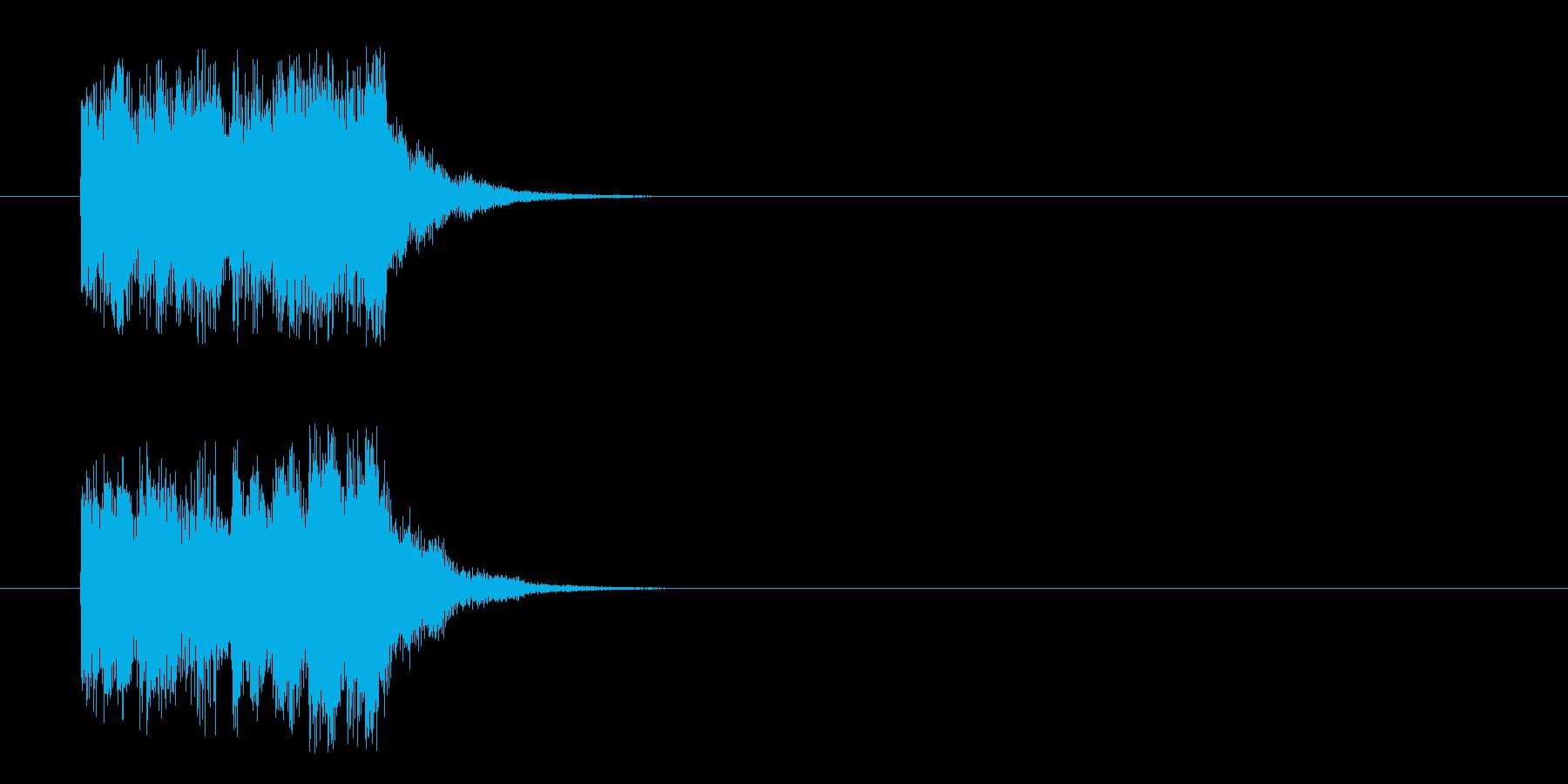 コーナーアタック風フュージョンのジングルの再生済みの波形
