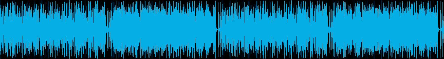 ほのぼのした雰囲気のコミカルな楽曲ループの再生済みの波形