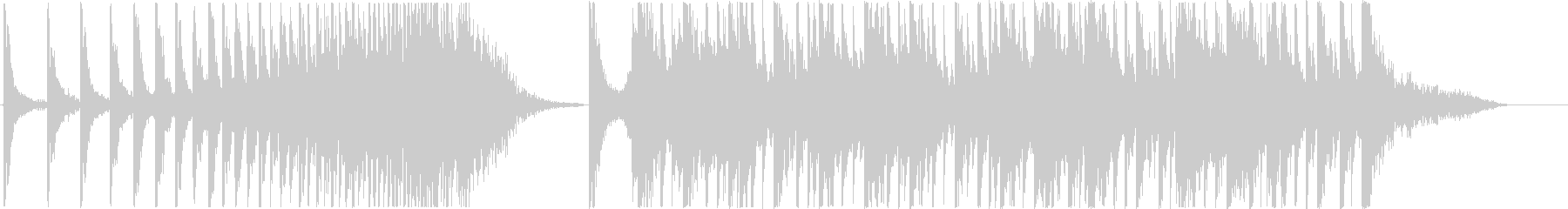 和太鼓を使用した緊迫感のあるBGMです。の未再生の波形