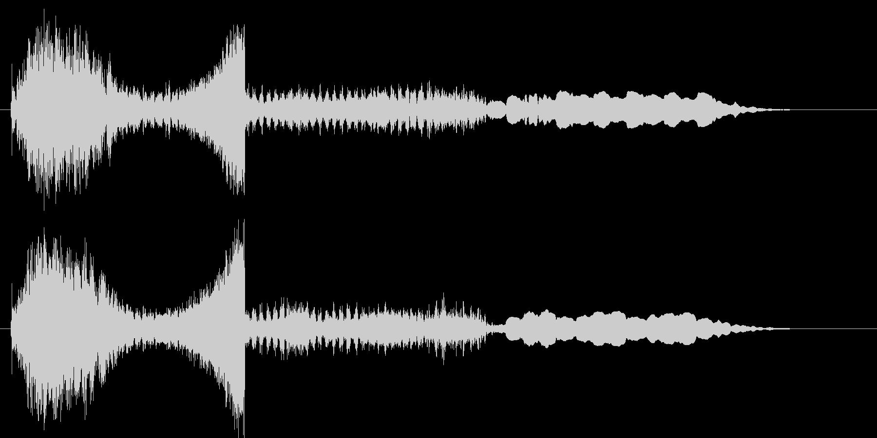 ユンユンユンユン… (UFOの交信音)の未再生の波形