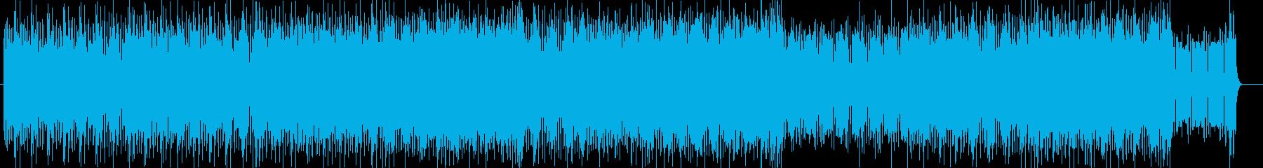不思議な迷路に迷い込んだようなテクノの再生済みの波形