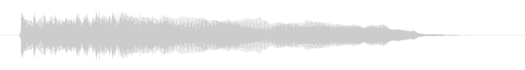 重低音ギターロックサウンド(ジングル)の未再生の波形