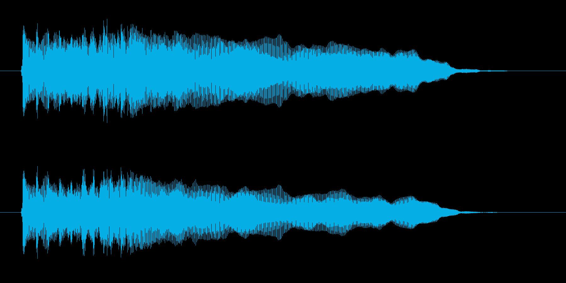 重低音ギターロックサウンド(ジングル)の再生済みの波形