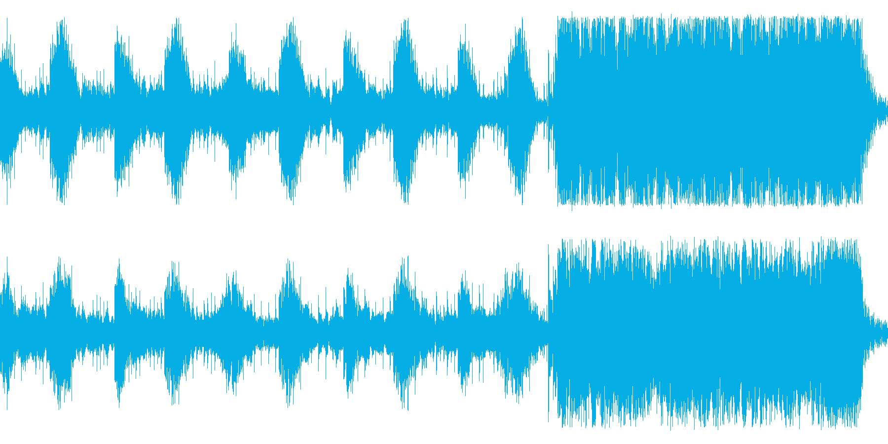 CM用に作成した緊迫感あるインストの再生済みの波形