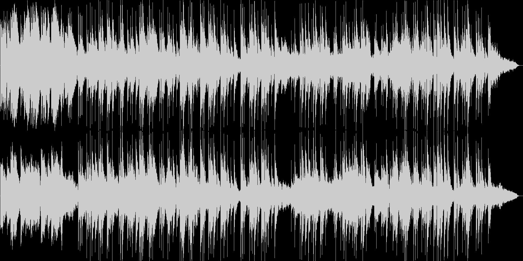 優しく流れるギターのリラクゼーションの未再生の波形