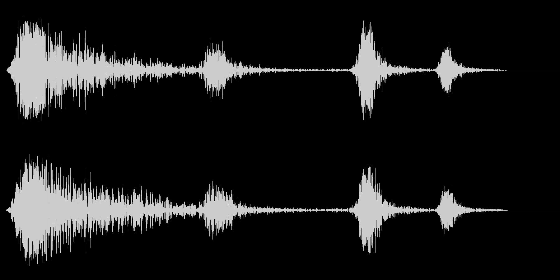 シュンシュン(発射音)の未再生の波形