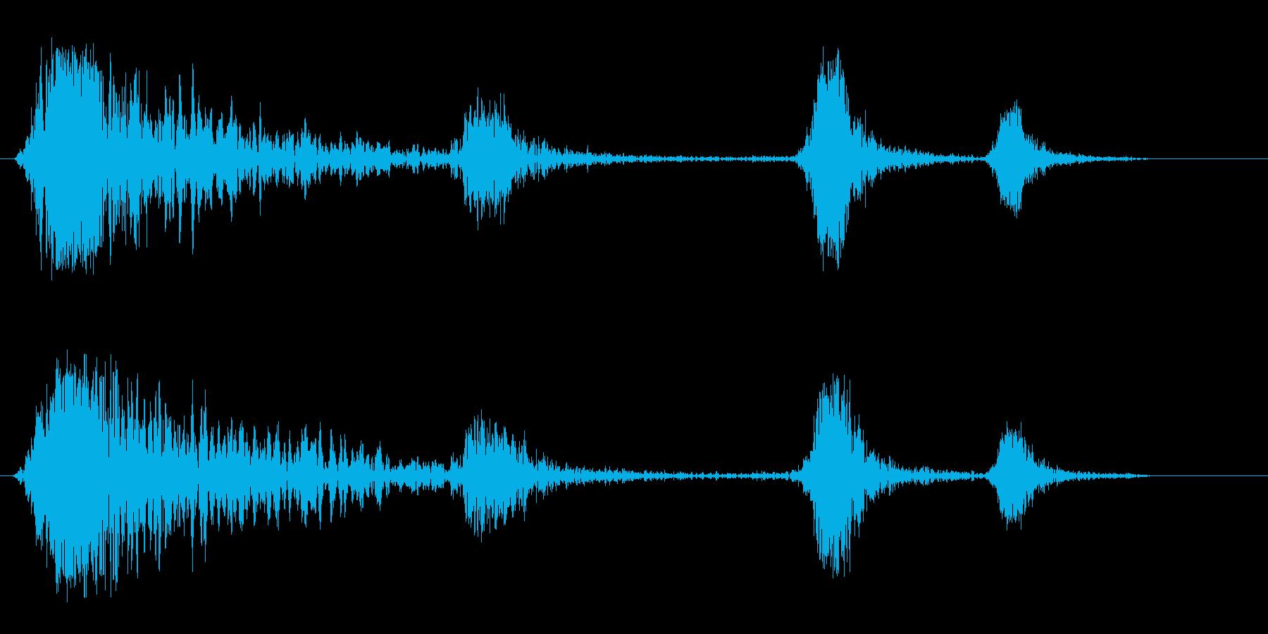 シュンシュン(発射音)の再生済みの波形