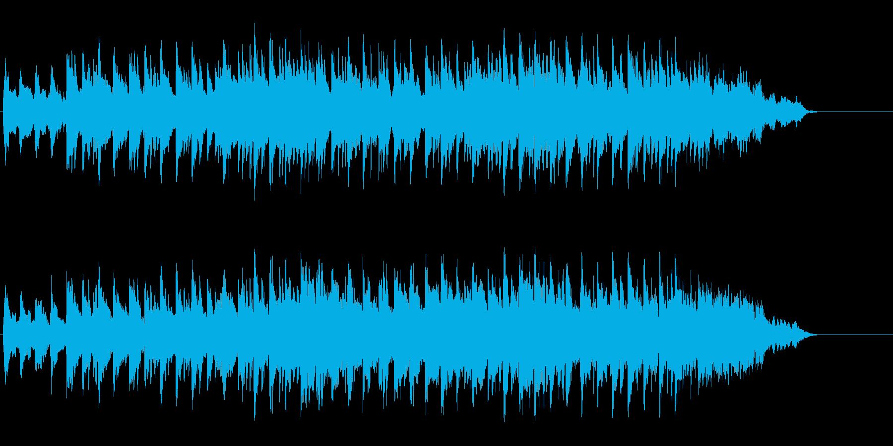 ほのぼのとしたアコースティックの再生済みの波形