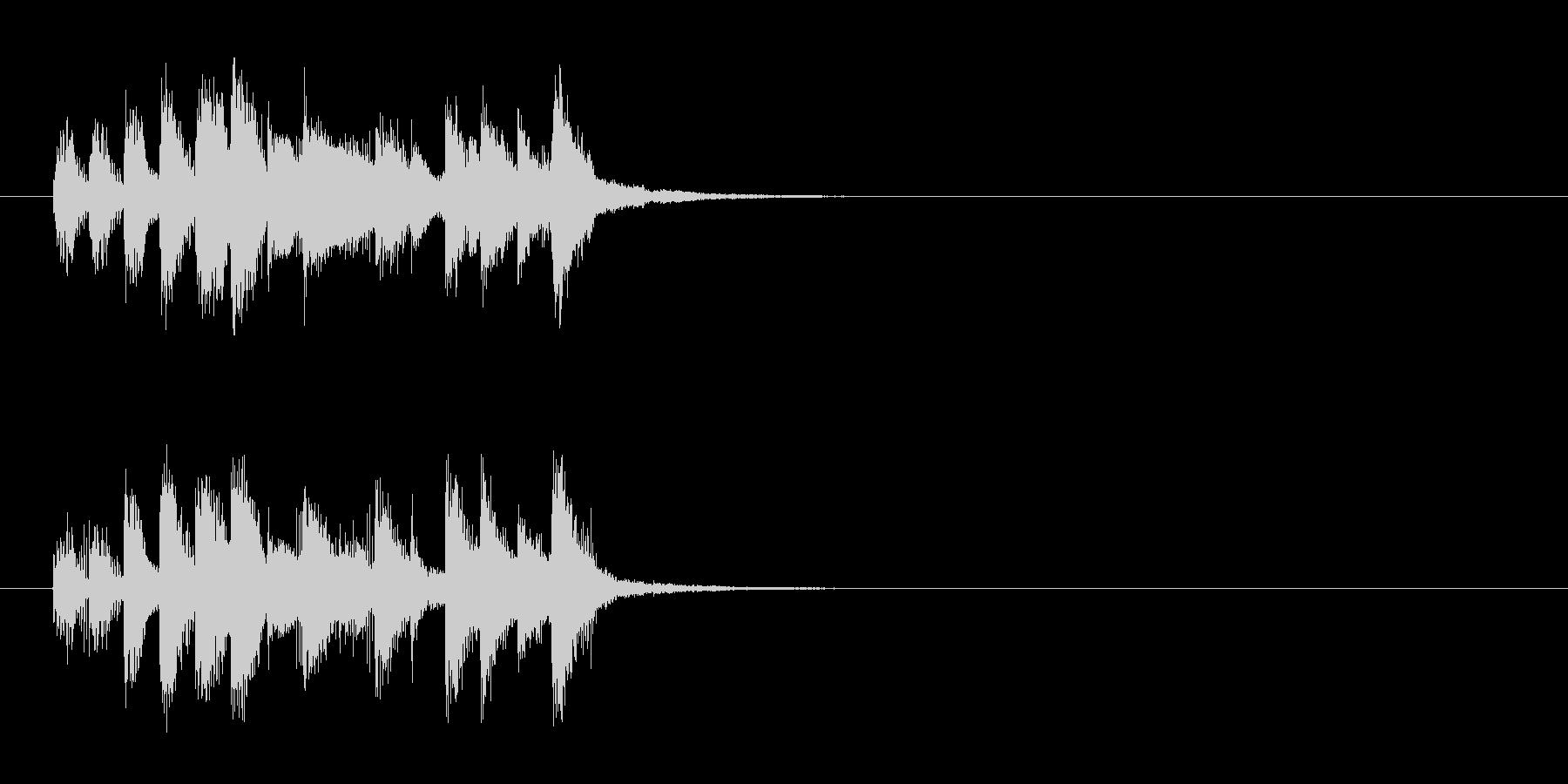 ジングル(コミカル)の未再生の波形
