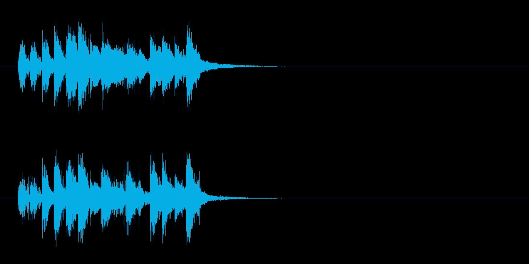 ジングル(コミカル)の再生済みの波形