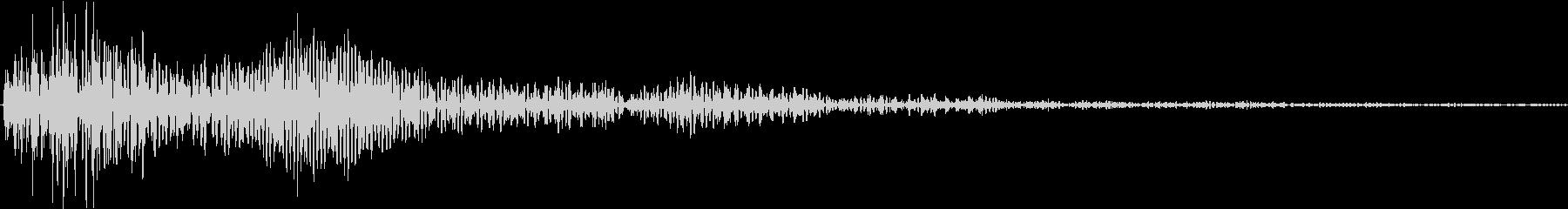ポンとカン(小鼓 拍子木)の未再生の波形