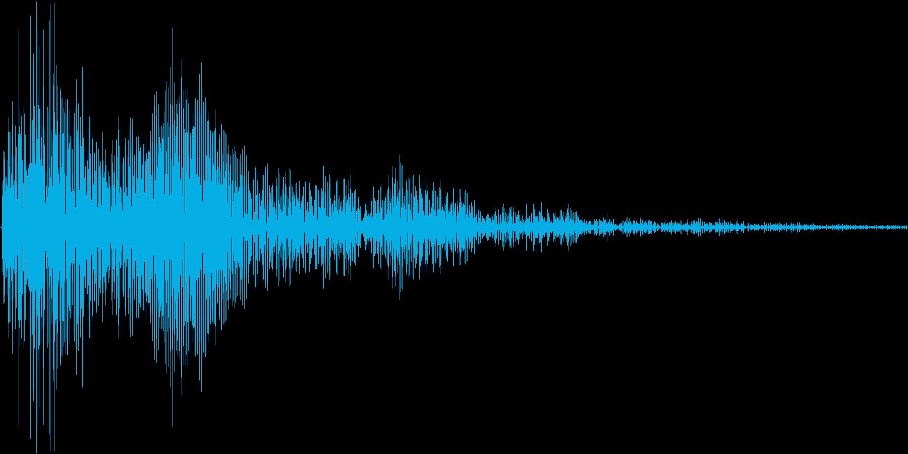 ポンとカン(小鼓 拍子木)の再生済みの波形
