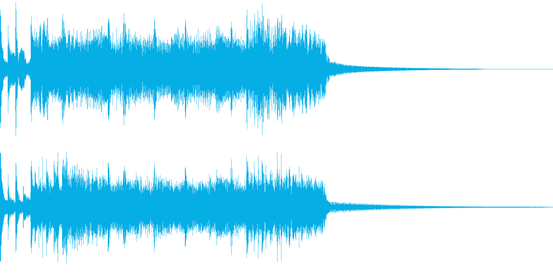 ハードロックなサウンドロゴの再生済みの波形