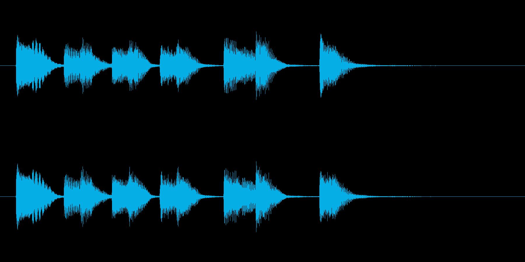 オチピアノ① ズッコケ 場面転換の再生済みの波形