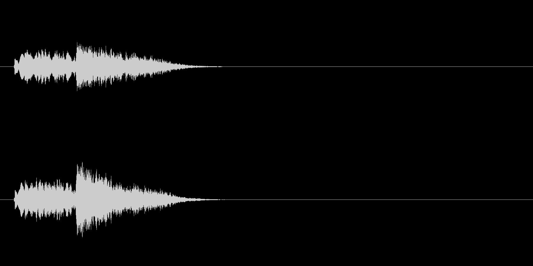 場面転換用ジングルの未再生の波形