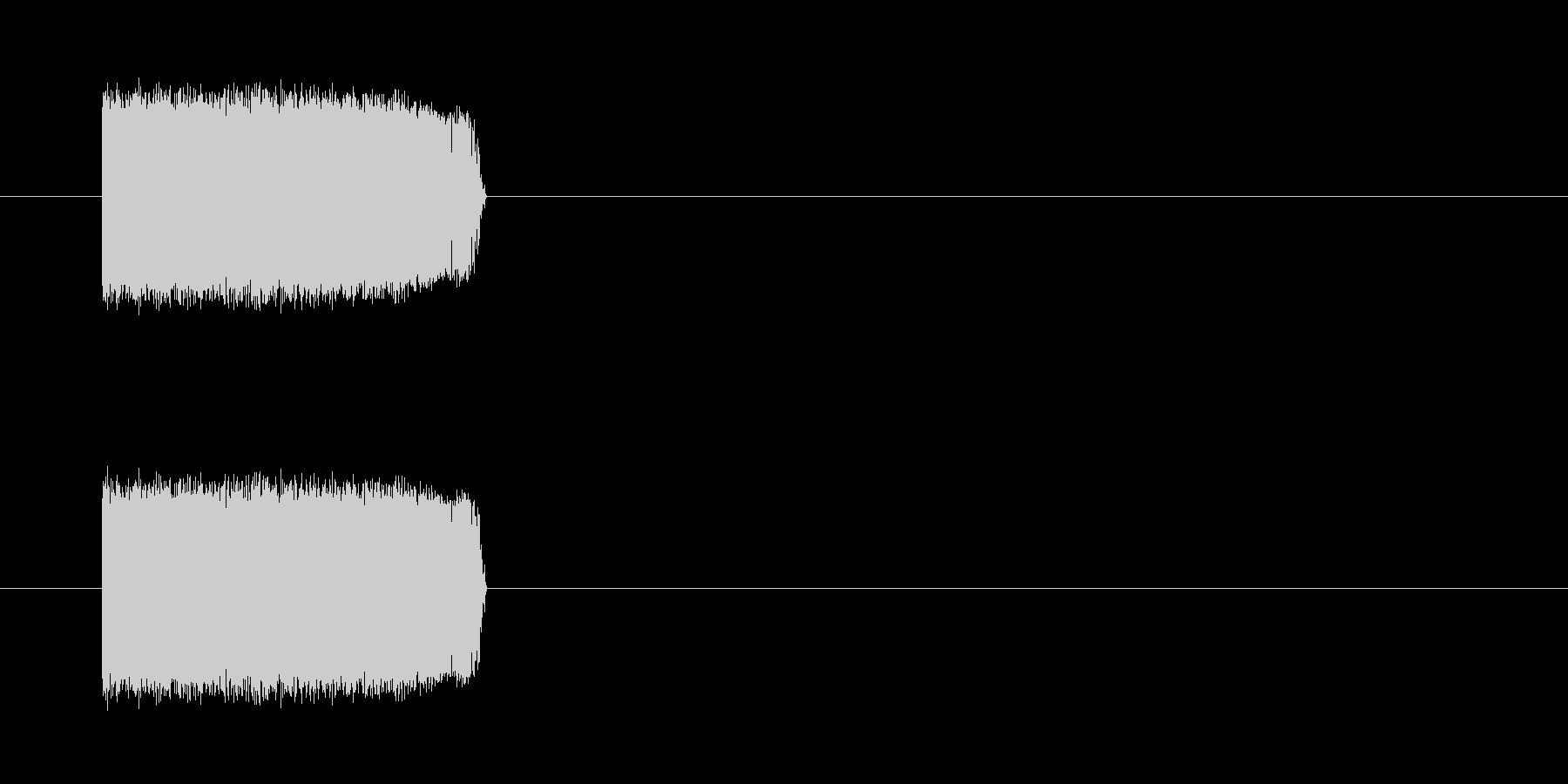 チェーンソー・モーターの未再生の波形