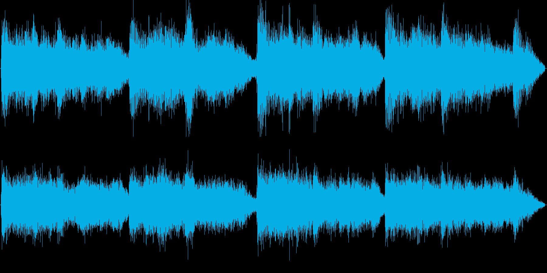 勇壮で緊張感のあるオーケストラジングルの再生済みの波形
