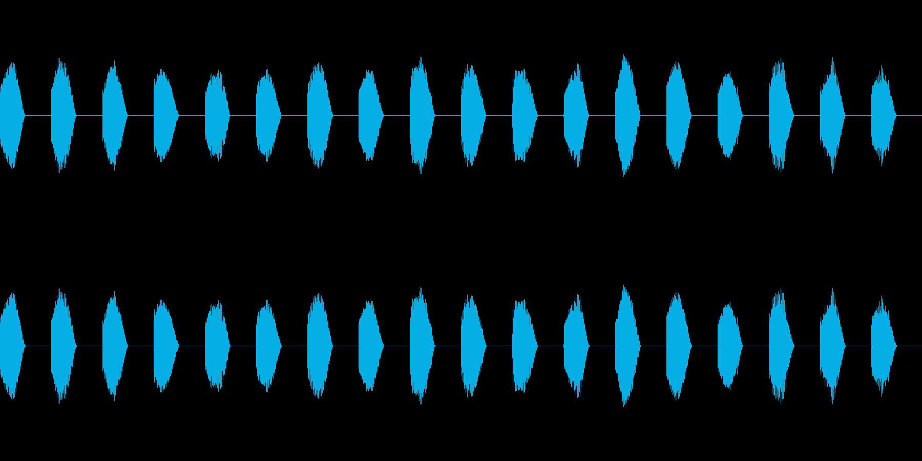 ※危険ブザー「ビー(連続)」不快音18回の再生済みの波形