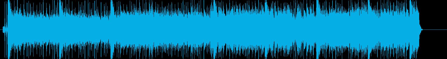 疾走感のある元気なポップロックの再生済みの波形