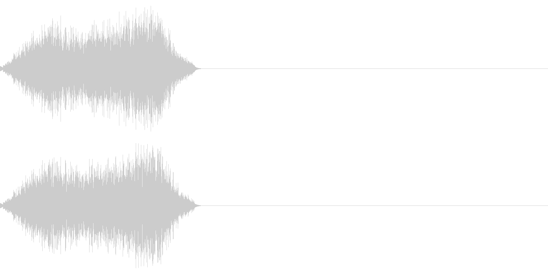 テロップなどが表示される(シューゥイ)の未再生の波形