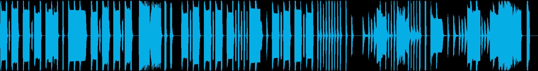 コミカルでまぬけなリコーダーの曲の再生済みの波形