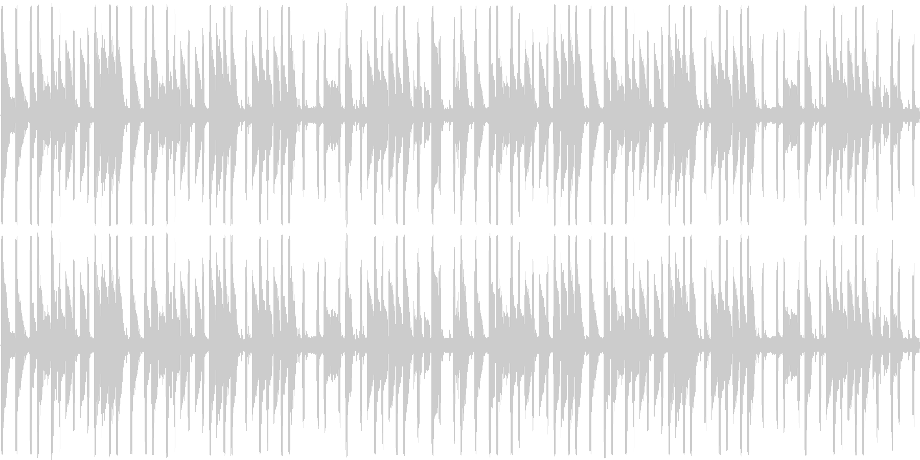 ファミコン風の元気なBGMの未再生の波形