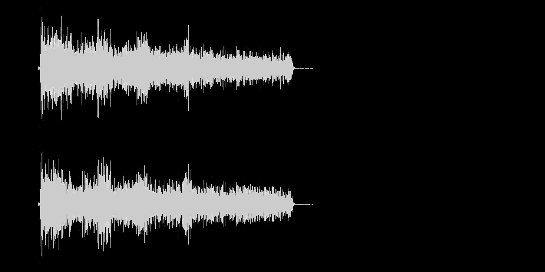 アハハハの未再生の波形