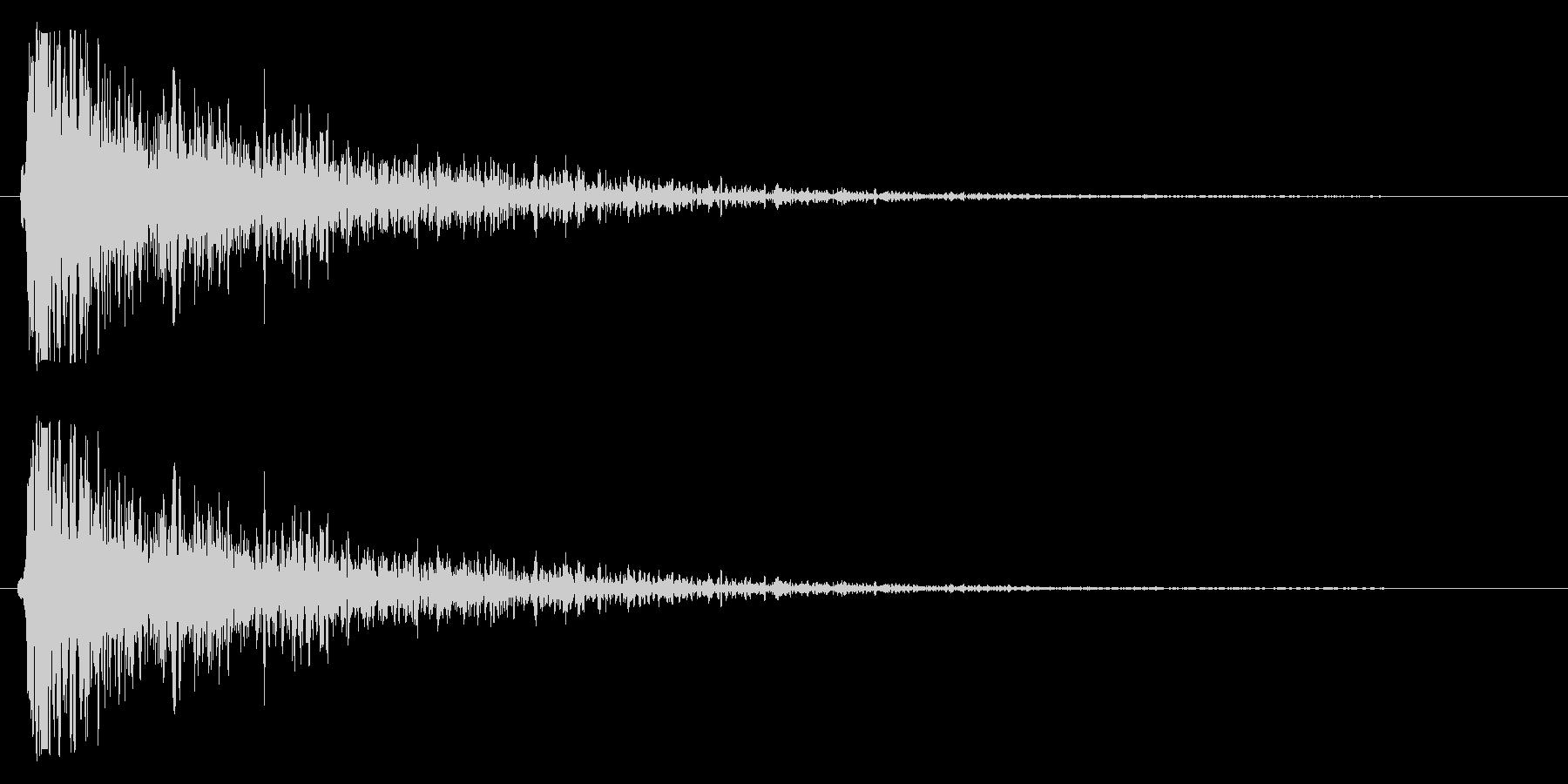 スネアを叩く楽器の効果音の未再生の波形