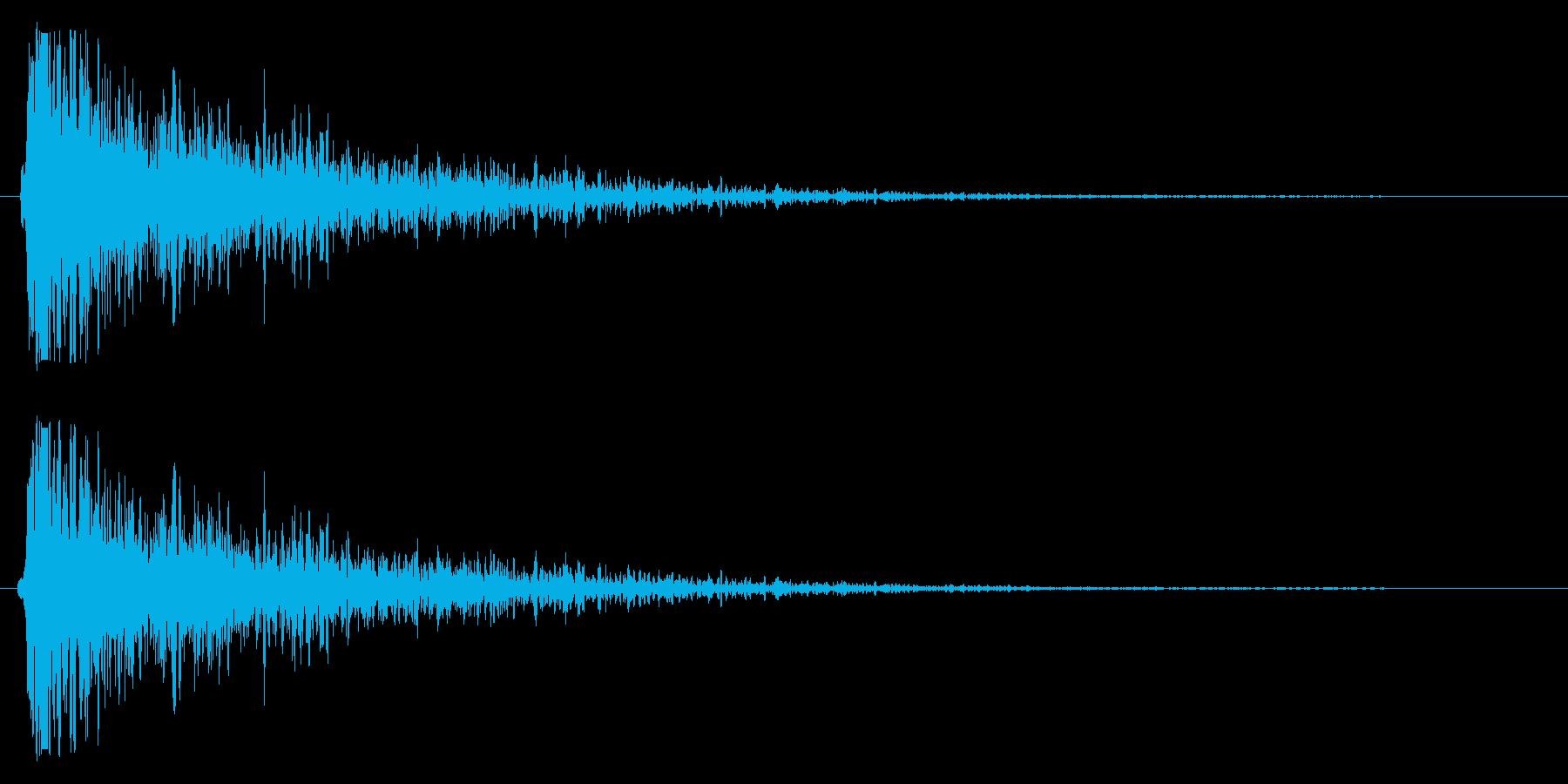 スネアを叩く楽器の効果音の再生済みの波形