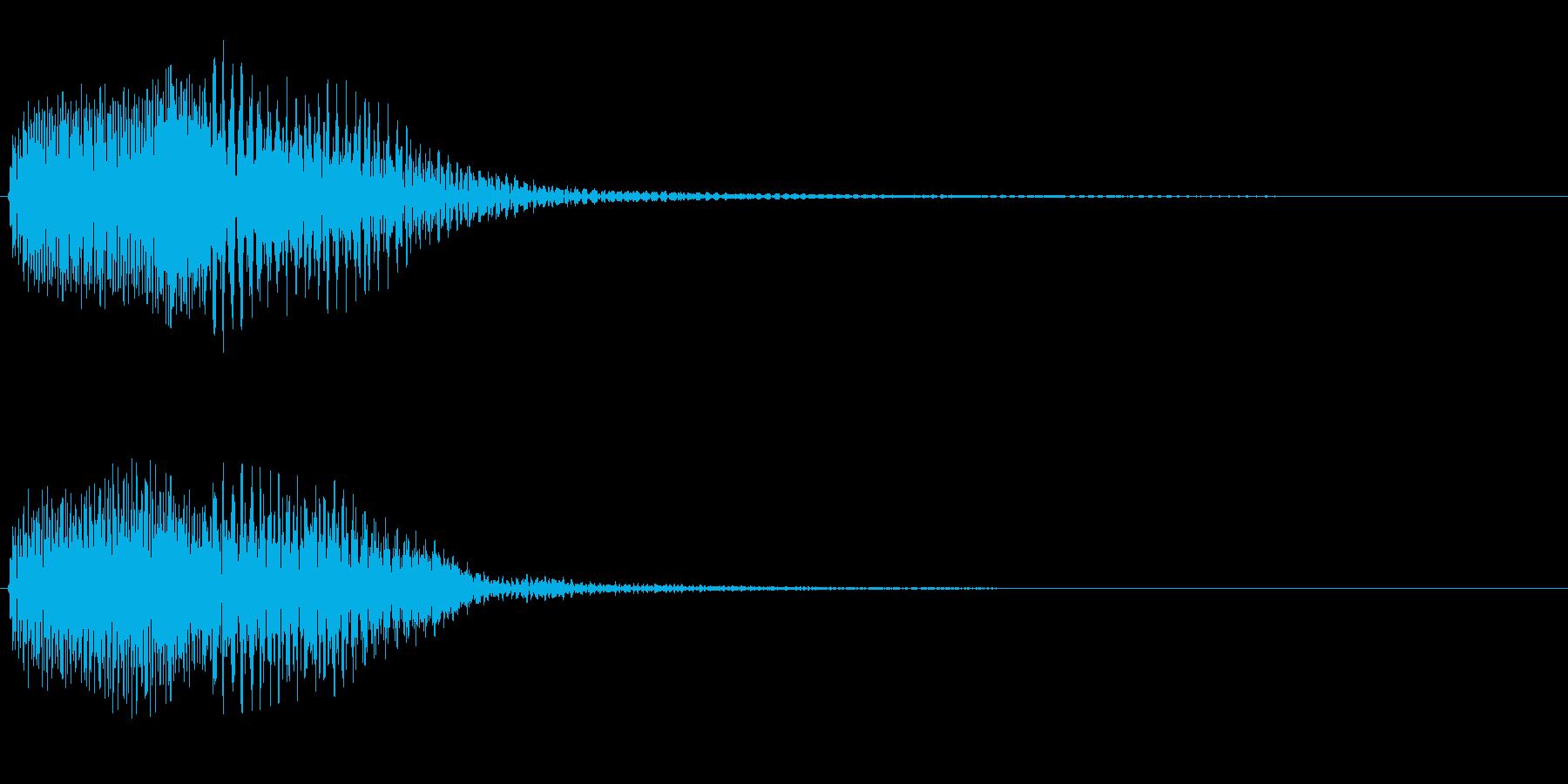 システム系スリープ音の再生済みの波形