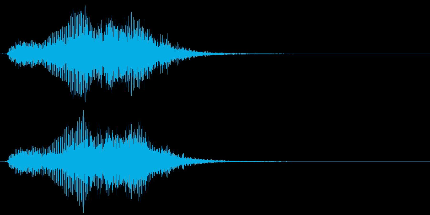 象の鳴き声2の再生済みの波形