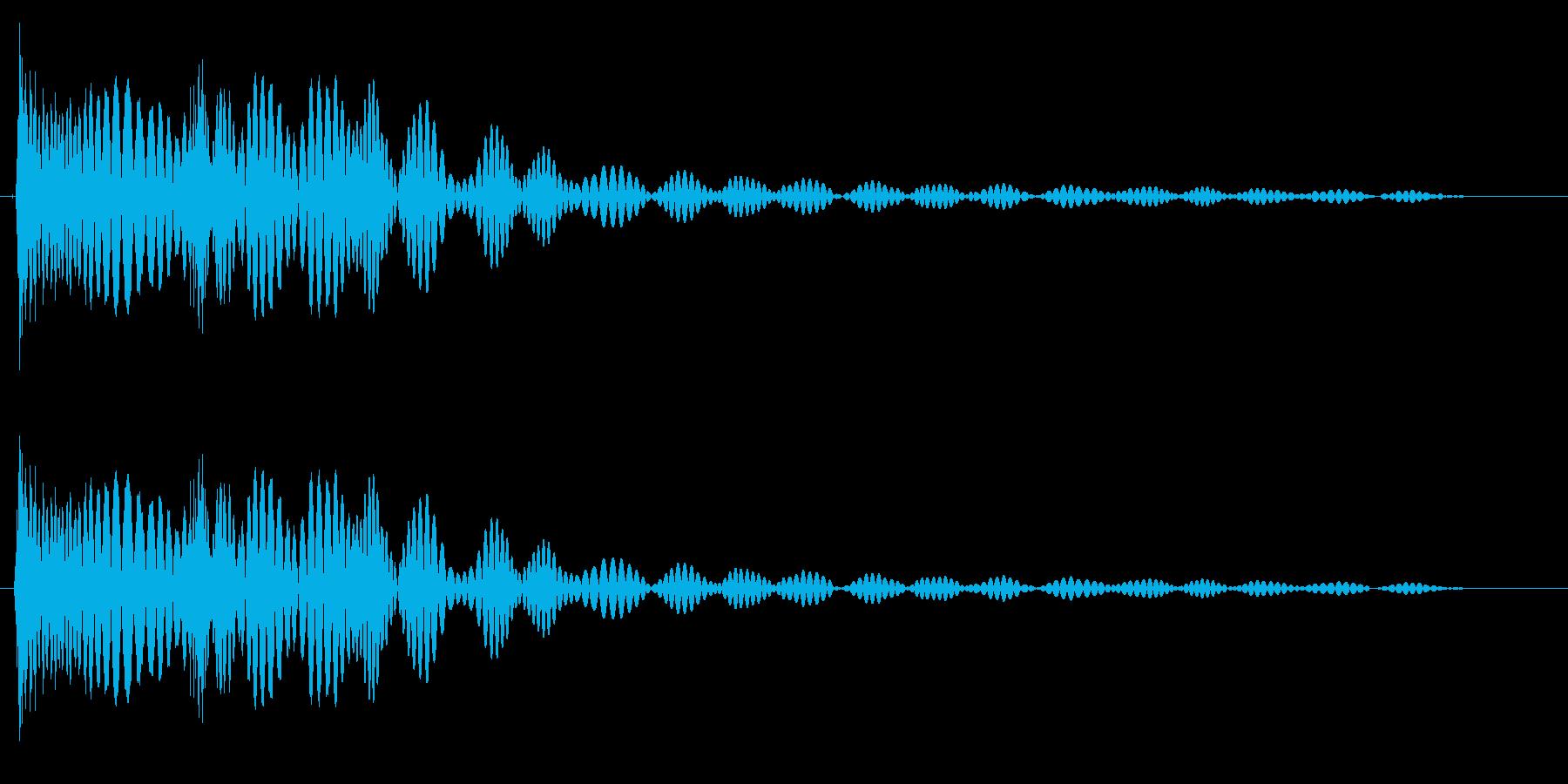 弾みのあるドテンッ(機械音)の再生済みの波形