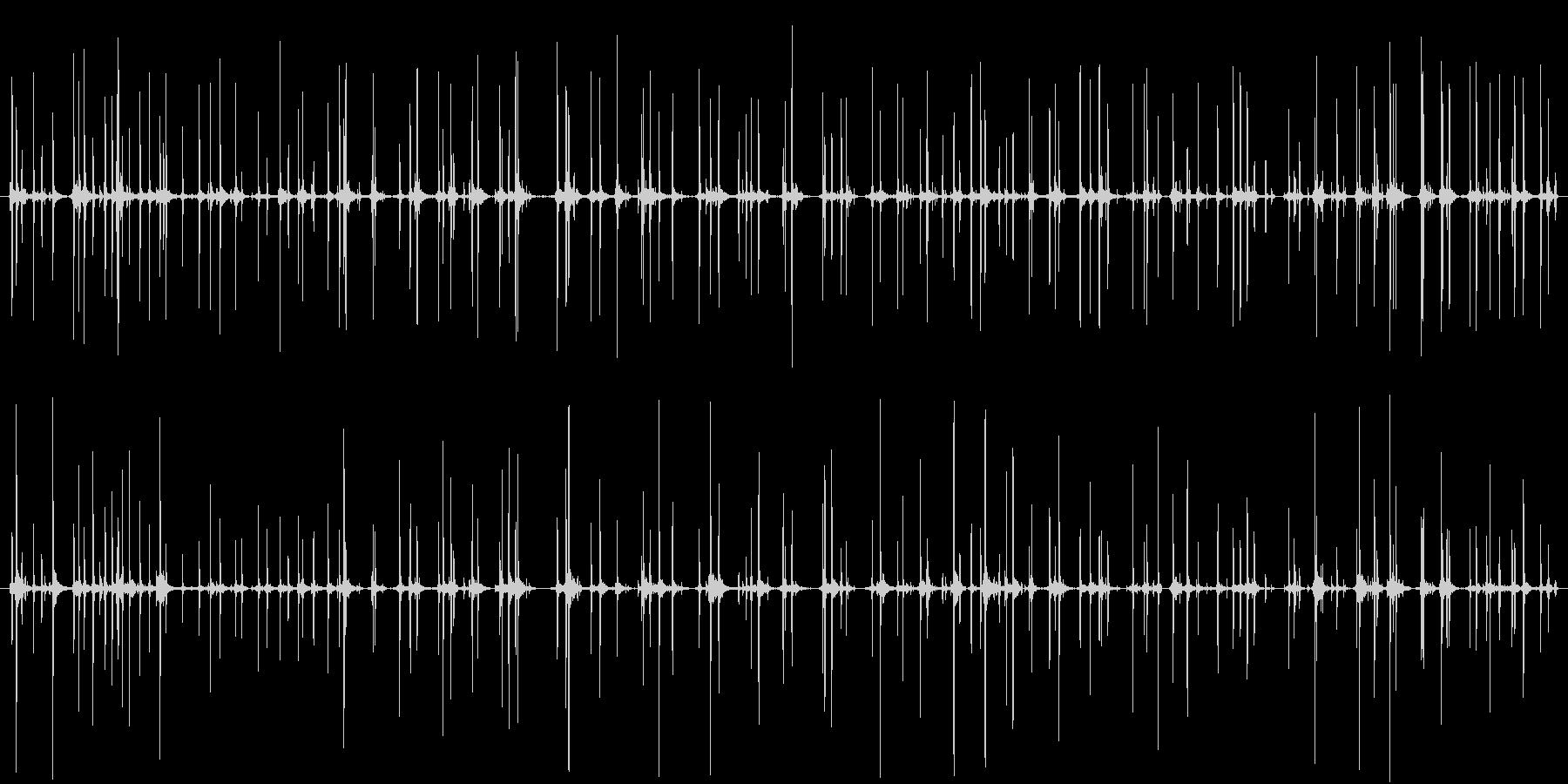 そろばんを弾く音 複数の未再生の波形