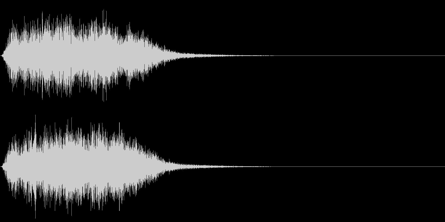 ワープ音 (ゴーウニョニョニョニョ)の未再生の波形