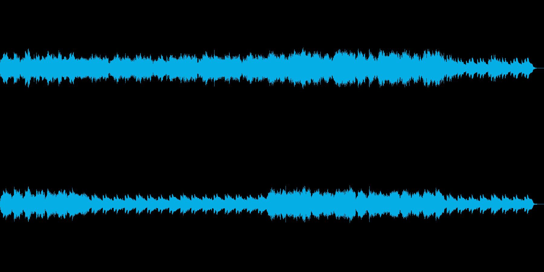 あたたかなピアノとストリングスのBGMの再生済みの波形