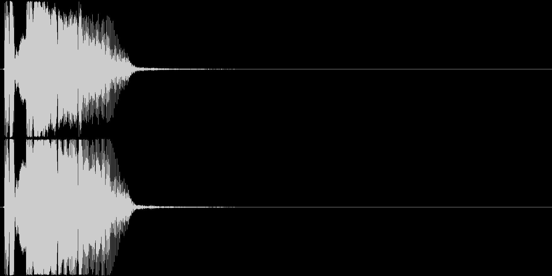 「カモン」アプリ・ゲーム用3の未再生の波形