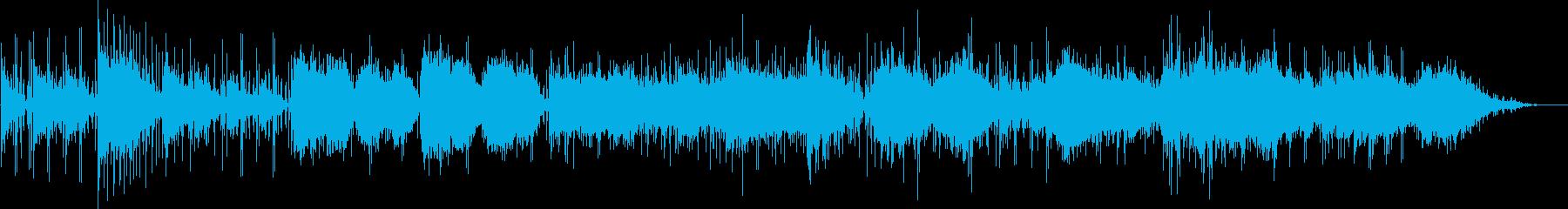 穏やかな海を表現したヒーリング曲の再生済みの波形