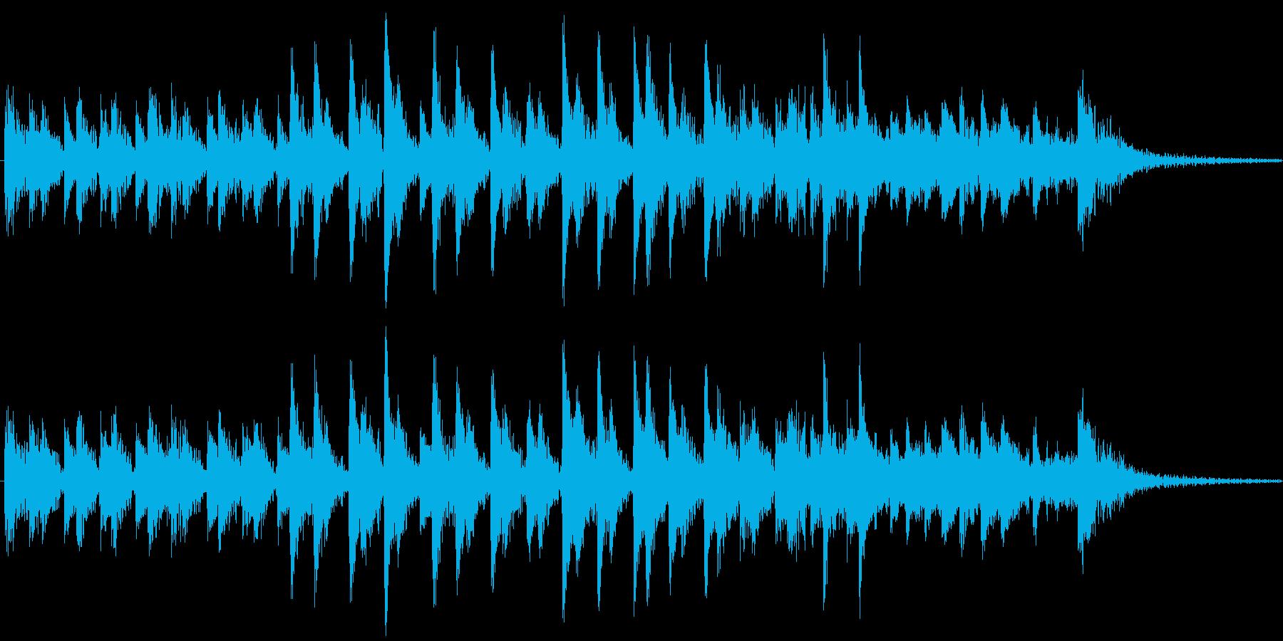 コミカルでスケール感のあるジングル。の再生済みの波形