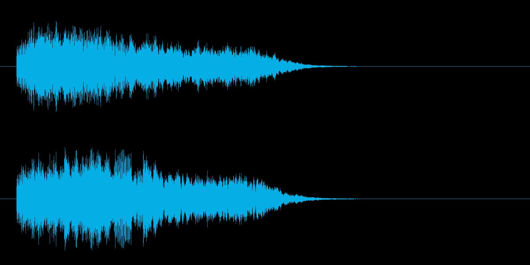 神秘的なネイチャーアンビエント風ジングルの再生済みの波形
