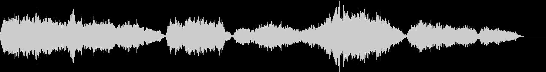 弦楽器の暗く重たい曲・ゲームオーバーの未再生の波形