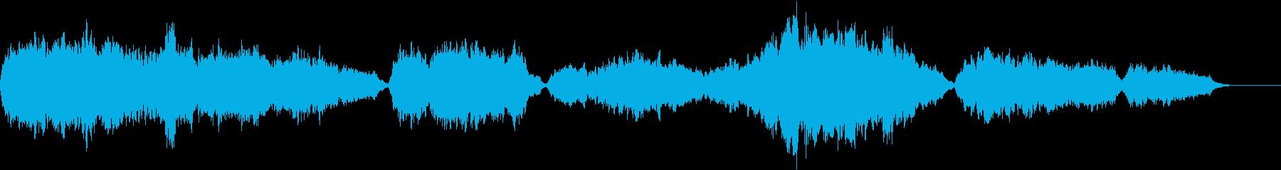 弦楽器の暗く重たい曲・ゲームオーバーの再生済みの波形