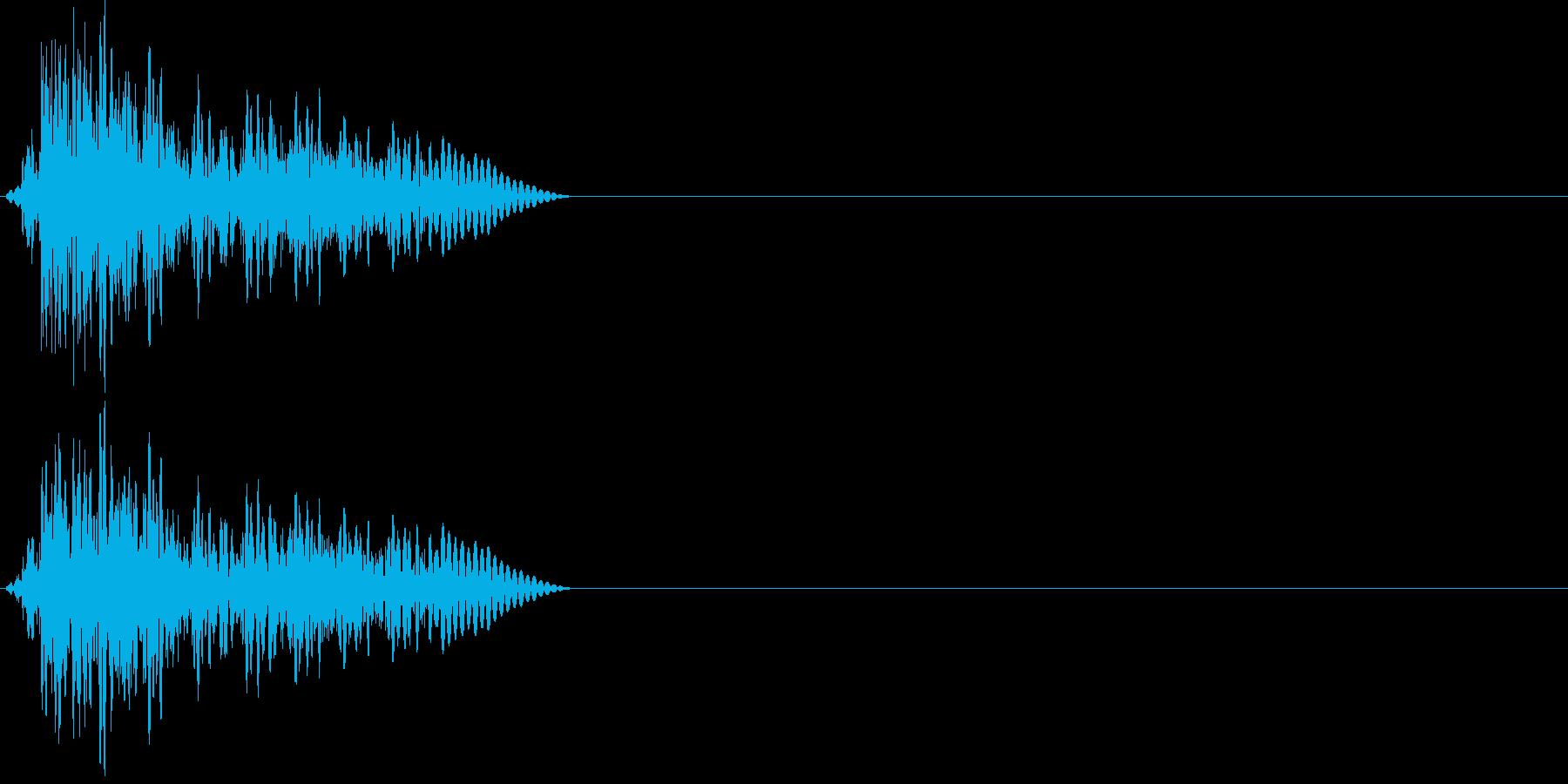 アコースティックギターの音2の再生済みの波形