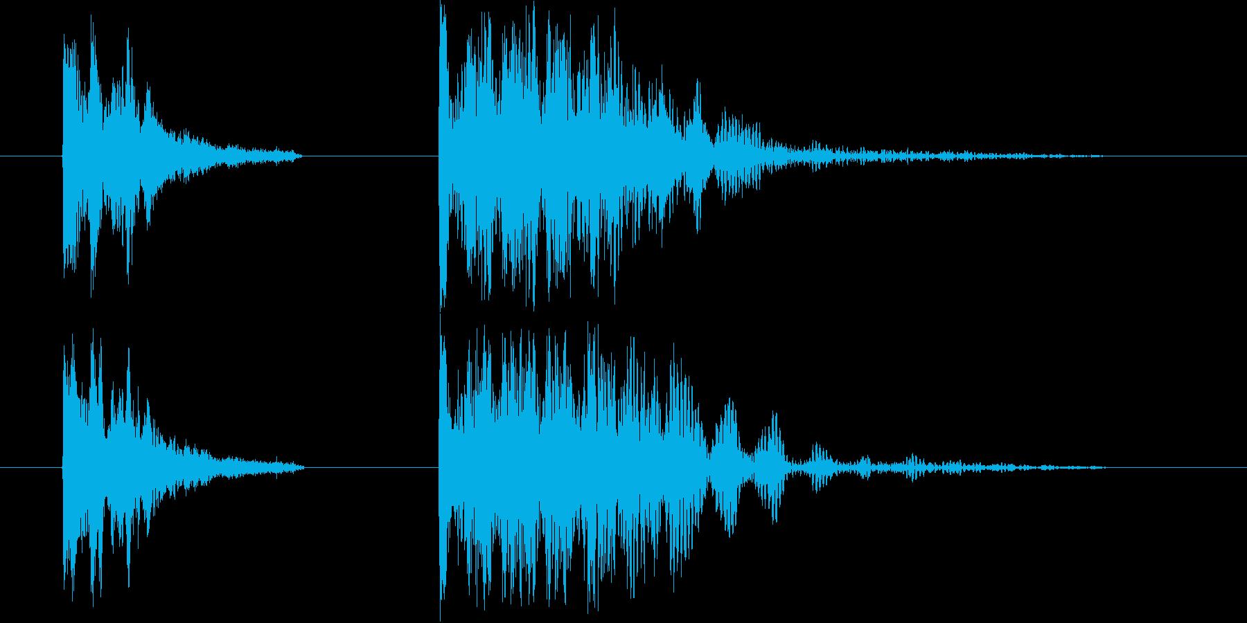 ドン  ドンドンドンの再生済みの波形