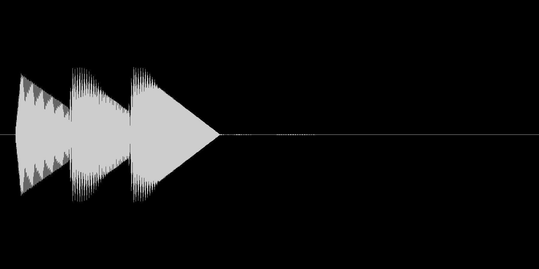 8bitのシステム音ピロン↑高音の未再生の波形