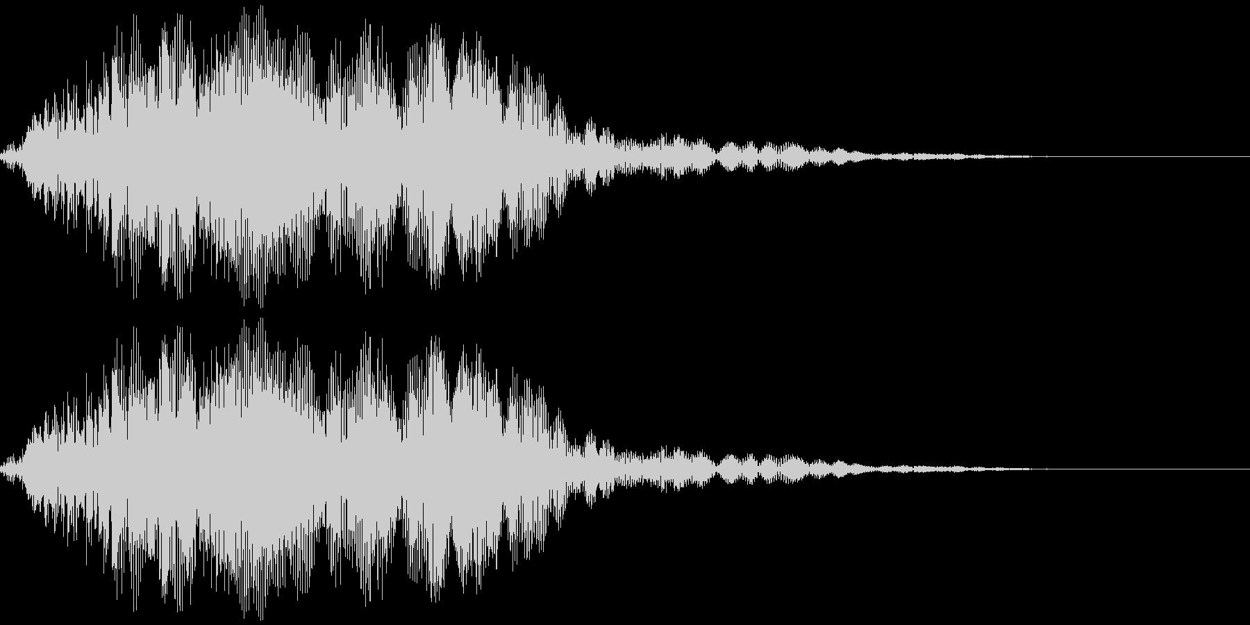 ヲォーーー(合唱風)の未再生の波形