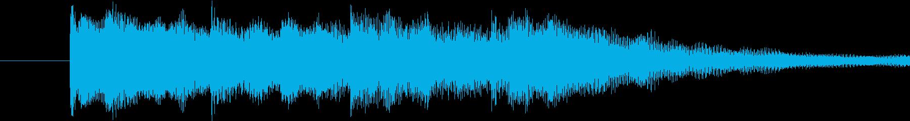 映像やゲームのジングルの再生済みの波形